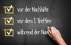 Lernhilfe Checkliste